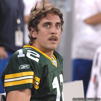 Aaron Rodgers, honorary mustache