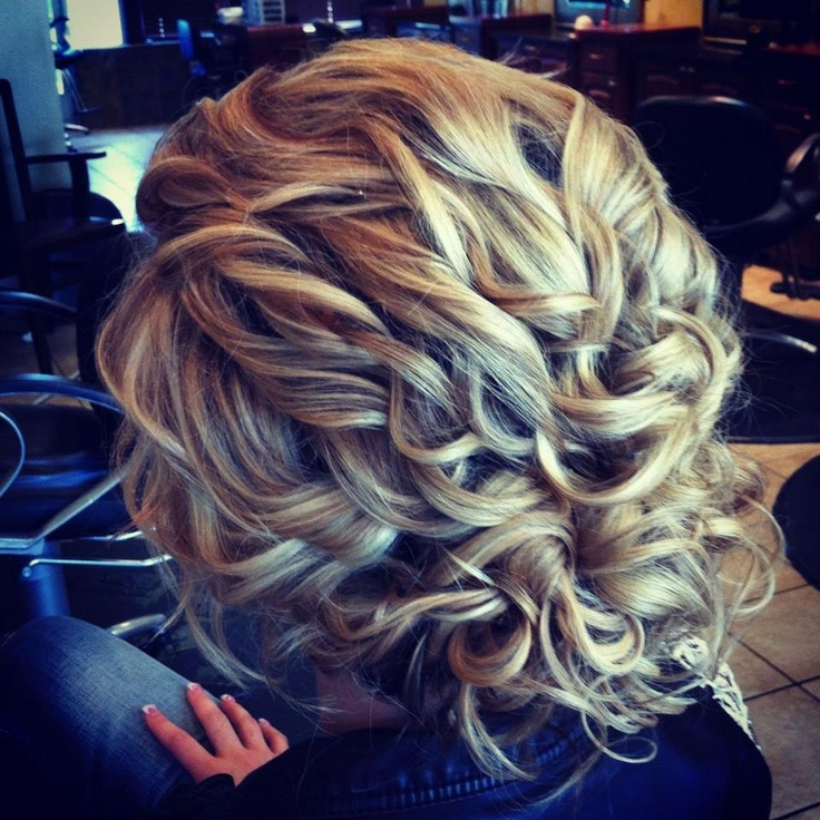 curly updo makes me wish I had the same depth of color in my hair