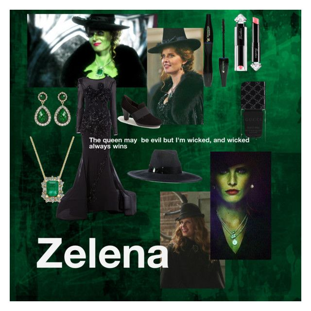 """Zelena"" by nellycrowe on Polyvore featuring Once Upon a Time, Nedo by Nedret Taciroglu, Amrita Singh, Paul Green, Eugenia Kim, Gucci, Lancôme and La Petite Robe di Chiara Boni"