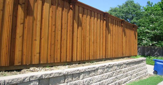 Cedar Wood Fence And Retaining Wall Fences Pinterest