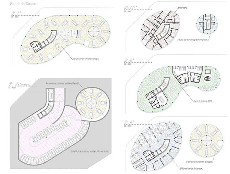 Architectural layout, Archmedium International Competition, by Bandada Studio.