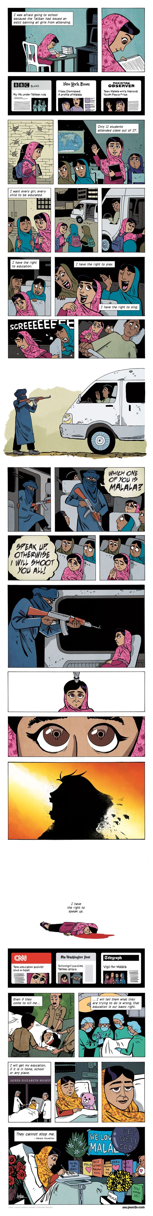 Zen Pencils Comic Strip on GoComics.com...I cannot believe how much hate is poured out towards this girl, some of the vile comments in the papers whenever she is mentioned are unbelievable.