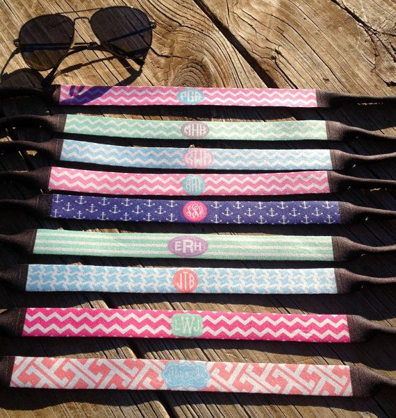 Personalized Glasses Strap, Monogrammed Sunglasses Strap, Croakies on Etsy, $15.00