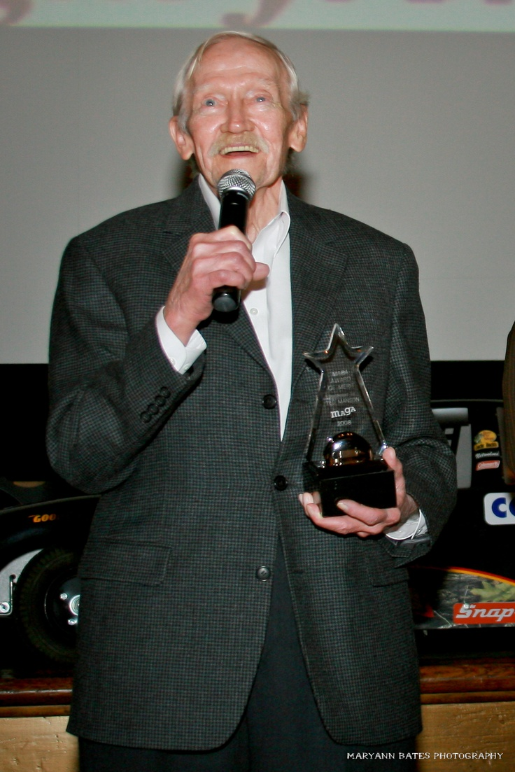 Ted Manson accepting his MAGY Award at the 2008 Macon Film Festival.
