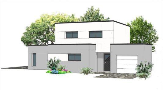 Les 25 meilleures id es de la cat gorie plan maison etage - Plan maison cubique toit plat ...