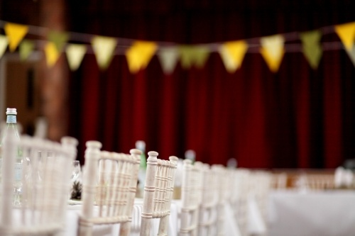 www.captureweddingimages.co.uk   - Coleshill Town Hall. Village Hall style Wedding. Vintage Bunting. Homemade accessories.