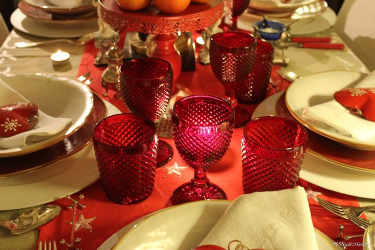 tavola rossa per natale 2014