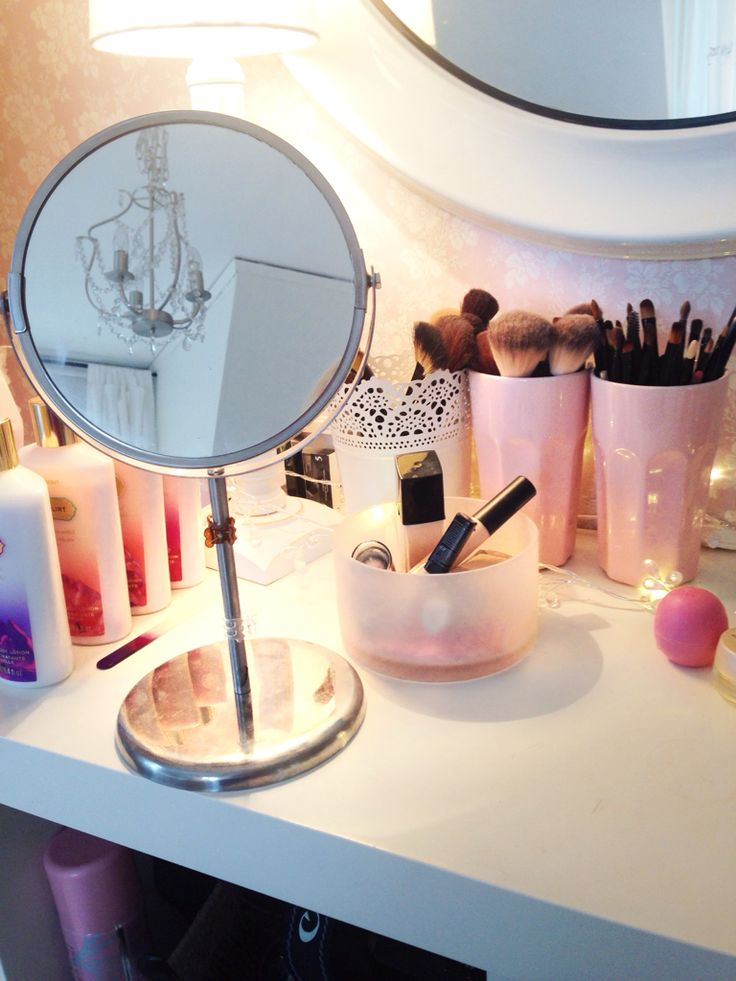 cute makeup station