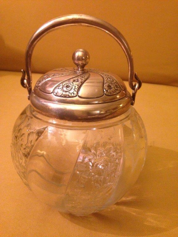 #William #Leuchars #hallmarked rue de la paix Paris rare #Victorian 1888 #silver #biscuit #barrel #bonbon #dish