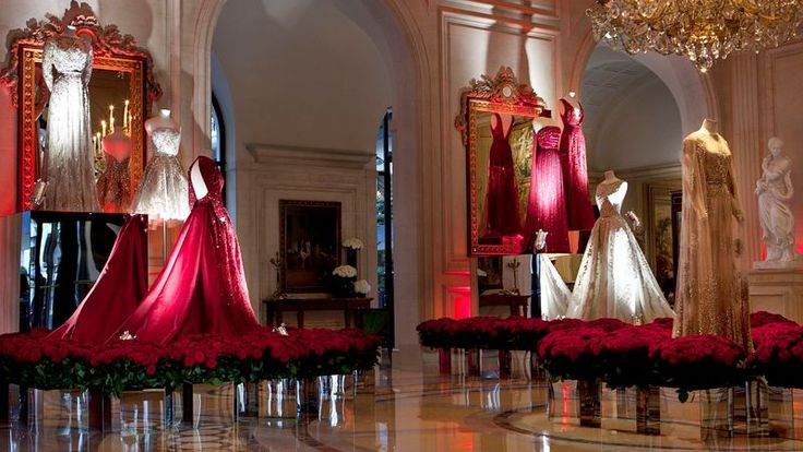 ELIE SAAB Exhibition at the Hotel George V in Paris.
