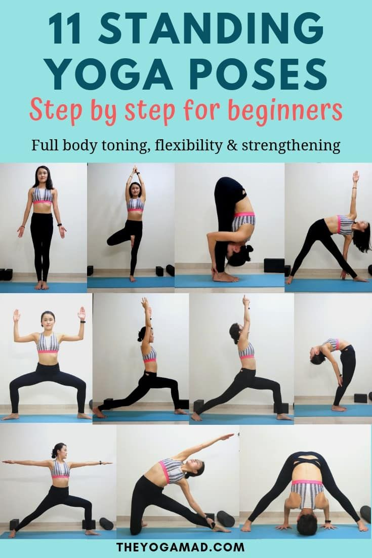 Beginner Yoga 11 Important Standing Yoga Poses For Flexibility And Strength Standing Yoga Standing Yoga Poses Yoga For Flexibility