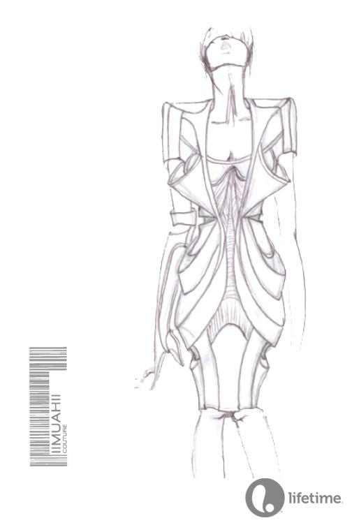 Design by Elena Slivnyak #ProjectRunway Season 10 #MakeItWork #Fashion #Sketch