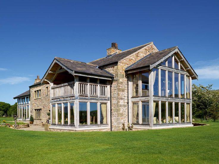 Stunning Conversion of a Derelict Barn  - Homebuilding & Renovating - Border Oak designed, supplied and erected the oak framing.