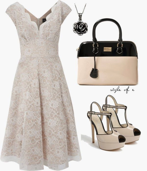 Classy Outfits | Lace Dress  Ariella Lace dress, ALDO sandals, Pauls Boutique bag  by styleofe