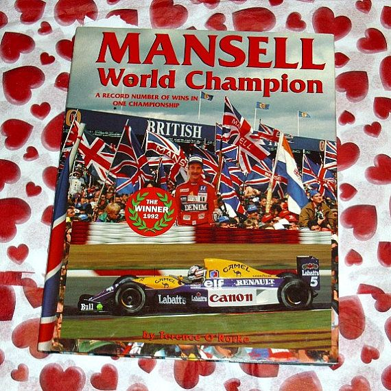 Nigel Mansell World Champion A Record Number by WelshGoatVintage