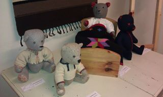 Extensions of the craft project: Kersti Pook / hand made #teddy bear work shop & exhibition at the Juustola Gallery