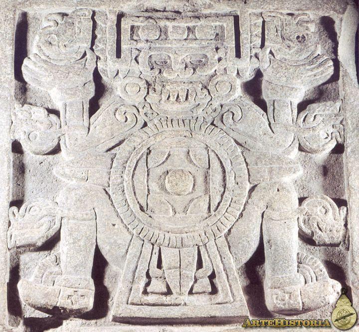 """Tlaltecuhtli o """"monstruo de la tierra"""". Cultura Azteca mexica Autor: Fecha: 1325-1521 Museo: Características: Estilo: Material: Basalto"""
