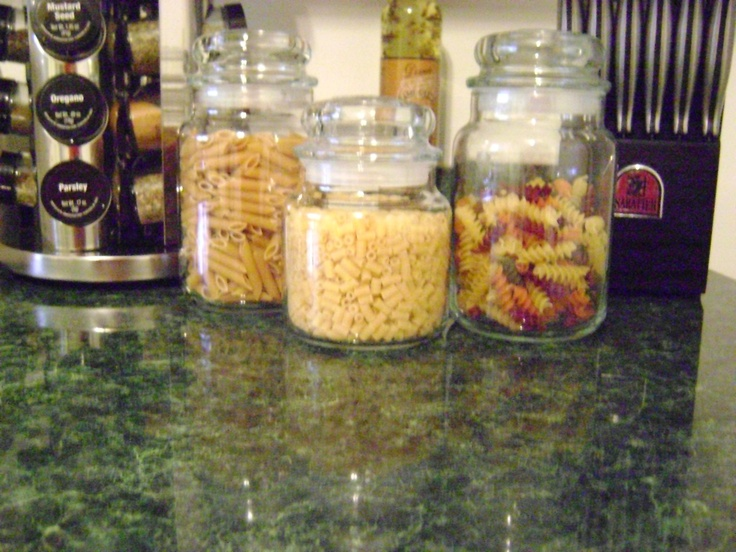 Used my old Yankee candle jars (washed and aired out) to store pasta or candy!