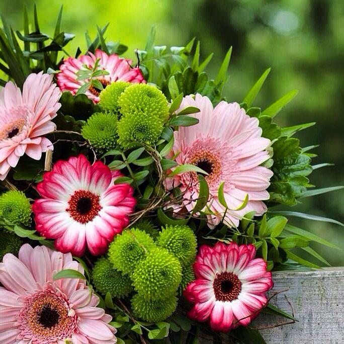 Nice summer bouquet from gerberas.