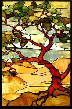 tree stained glass pattern