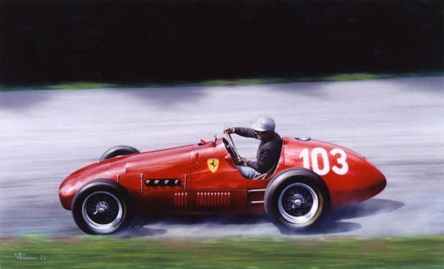 1952 GP Niemiec (Nurburgring) Ferrari 500 (Piero Taruffi)