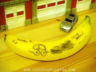 Cute Food For Kids?: How To Draw On Banana