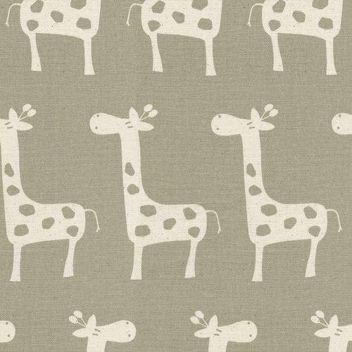 Taupe Giraffe Fabric By The Yard Carousel Designs