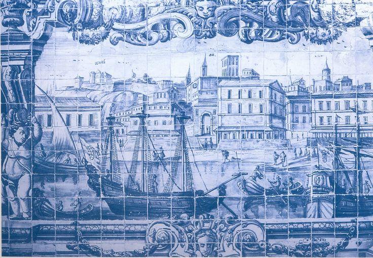 Panneau de azulejos. Musée National du Azulejo, Lisbonne.