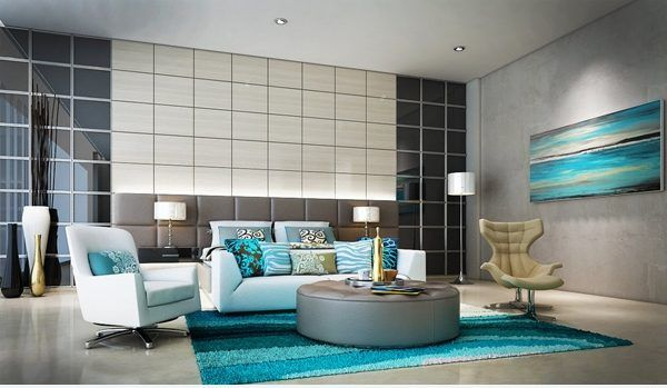 Turquoise Living Room Decor, Black White And Turquoise Living Room Ideas