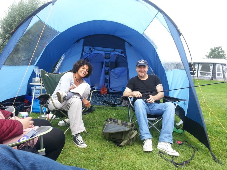 Tiffy and G camping 2013. Vango Icarus 500 with front canopy. #camping #vango #icarus #tent