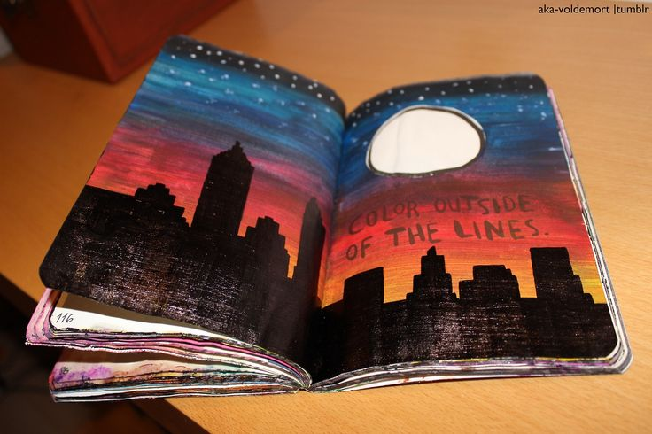 Wreck This Journal - 'Color Outside The Lines' page