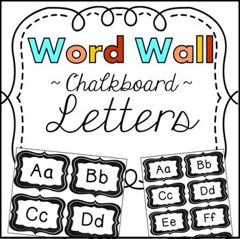 Word Wall Letters! Aa - ZzWord Wall Letters ~ Chalkboard: These cute chalkboard word wall letters come in two sizes: 4 per standard sheet of paper and 8 per sheet.