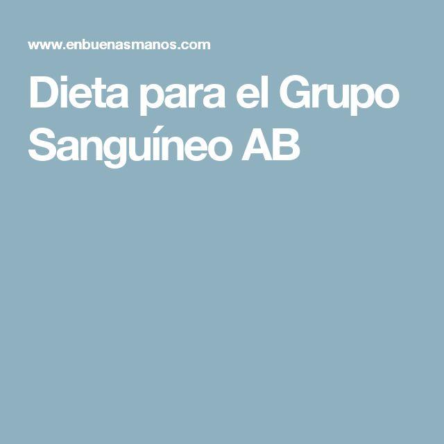 Dieta para el Grupo Sanguíneo AB