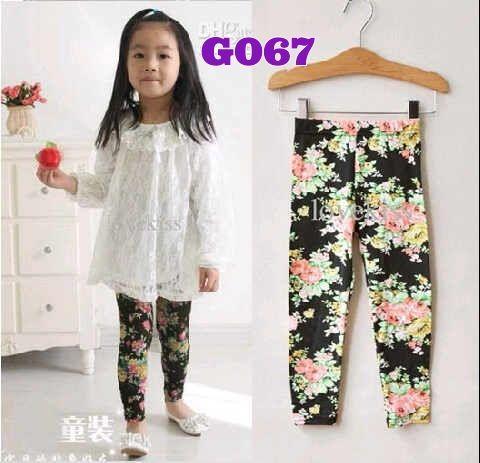 Cute Legging Flower || Size 4-9 tahun || IDR 42.000