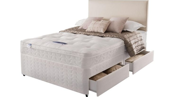 Buy Silentnight Auckland Ortho Kingsize Divan Bed - 4 Drw at Argos.co.uk - Your Online Shop for Divan beds, Beds, Bedroom furniture, Home and garden.
