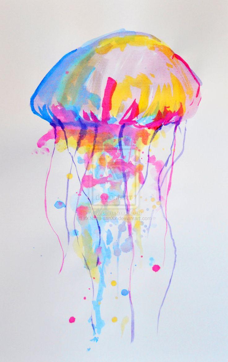 Jellyfish Painting Watercolor |