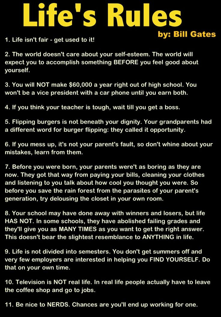 Bill Gates' Rules to Live By