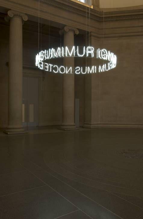 """In Girum Imus Nocte et Consumimur Igni"" letter chandelier | lighting . Beleuchtung . #luminaires | Design: Cerith Wyn Evans | tate | #myloft.ch #design #lifestyle"