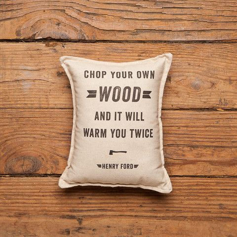 Chop your own wood pillow