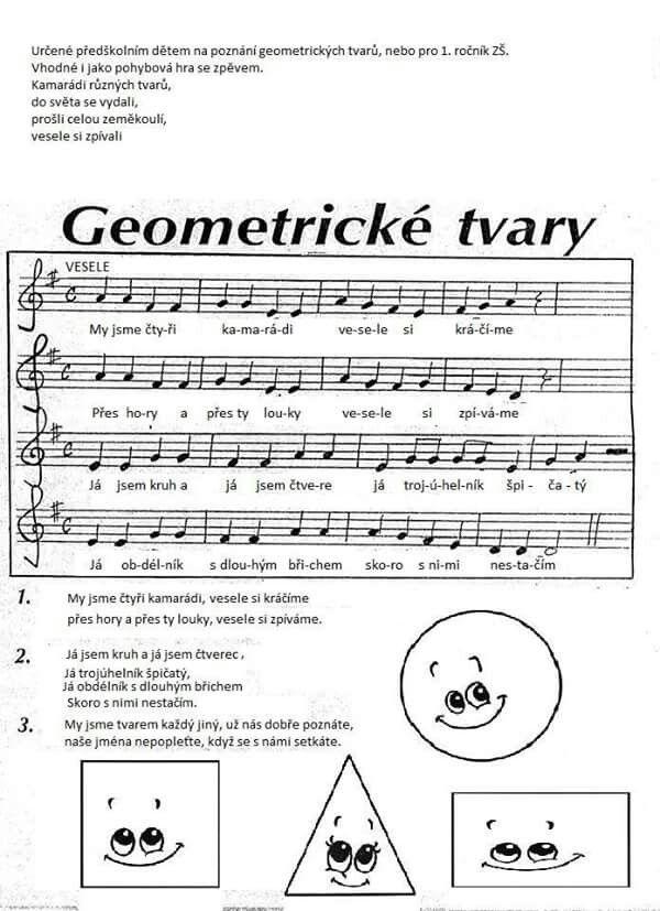 Geometricke tvary - písnička