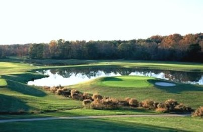 Wolf Creek Golf Club - Atlanta, GA. Visit http://ezlinks.com/georgia for discount tee times in Georgia. Since 2001 Wolf Creek has earned a reputation as one of the toughest golf tracks in the Atlanta Metro area. Just 10 minutes from the airport and 15 minutes from downtown.    The Mike Young Designs course incorporates both low flatlands holes, bordering many wetland areas, and holes with dramatic challenges.  Golf Digest Selected Wolf Creek as the best courses in the area.