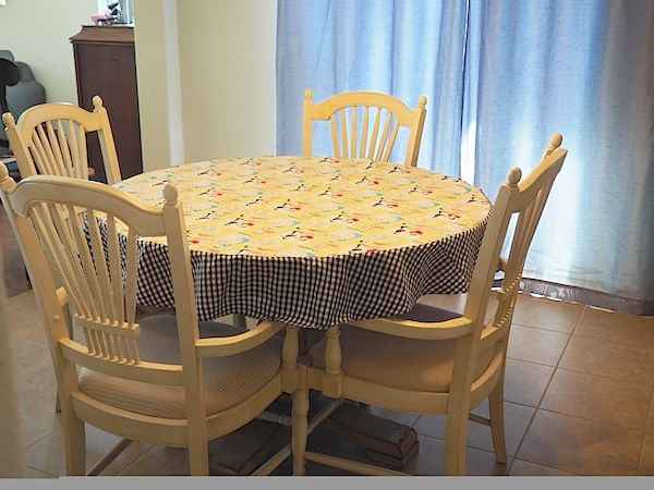 Learn tips and tricks for sewing circles with a step-by-step lesson for how to make a round tablecloth.
