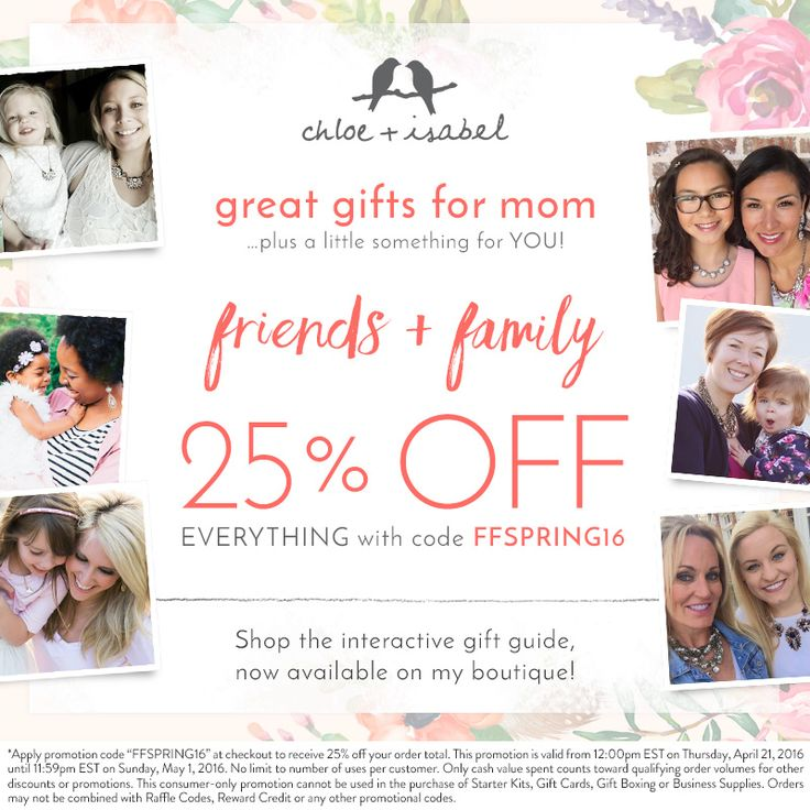 Shop for mother's day gifts during Friends + Family — take 25% off now!