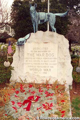 The War Dog Memorial.