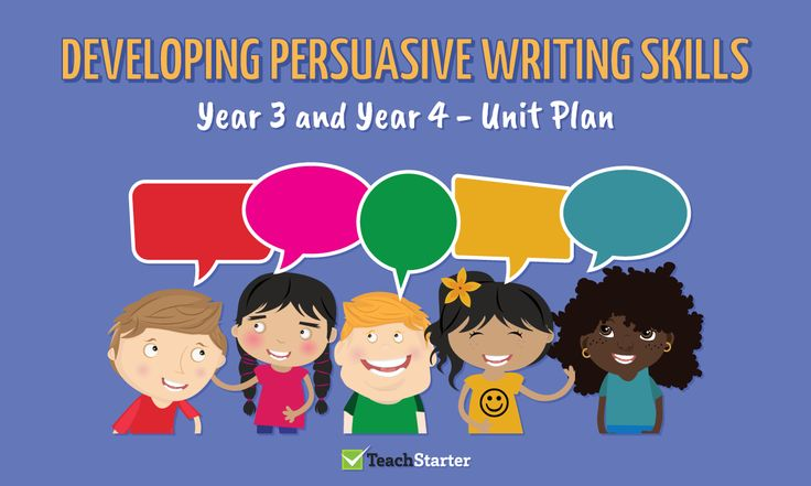 Developing Persuasive Writing Skills Unit Plan – Year 3 and Year 4