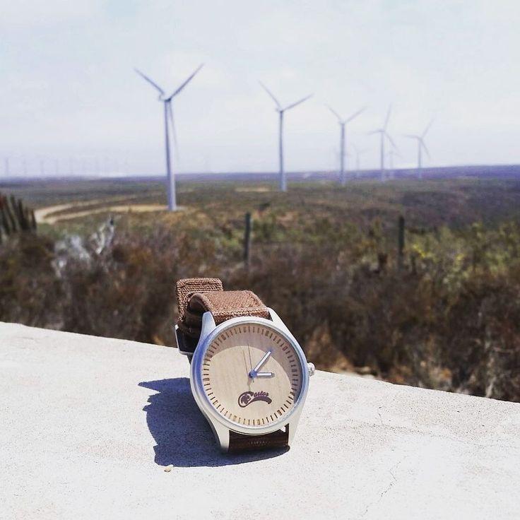 Un #reloj Castor Dual Bmboo se ve bien en todos lados. #castorwatches en parque eólico IV Región #chile . Visita nuestra página  http://ift.tt/1RZA1G6 . Envío gratis a todo Chile . Worldwide shipping  . #watches #bamboowatch #watch #woodenwatch #accesorios #relojesdemadera #relojes