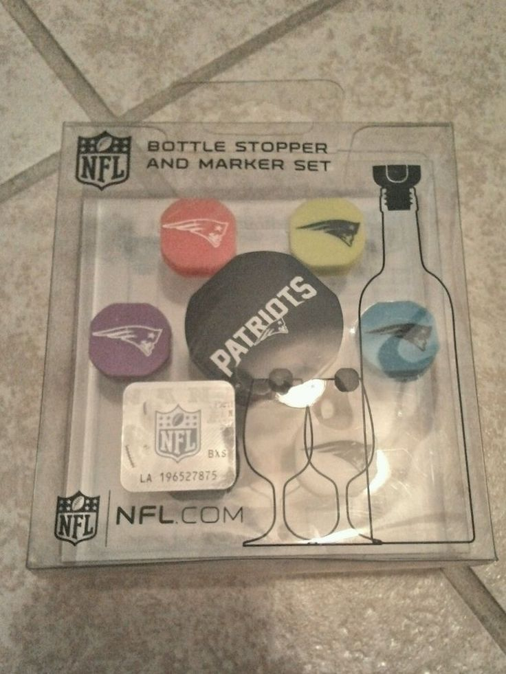 NEW!! NFL NEW ENGLAND PATRIOTS BOTTLE STOPPER AND MARKER SET of 7 free shipping! in Sports Mem, Cards & Fan Shop, Fan Apparel & Souvenirs, Football-NFL | eBay