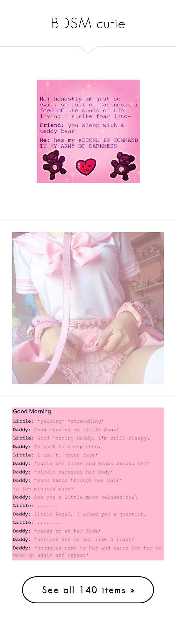 """""""BDSM cutie"""" by jennyryanfecitt ❤ liked on Polyvore featuring text, daddy kink, backgrounds, phrase, quotes, saying, fills, pictures, daddy and ddlg"""