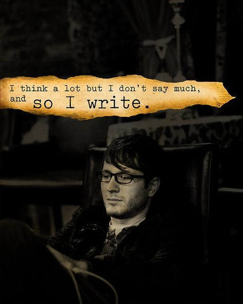 So I write...
