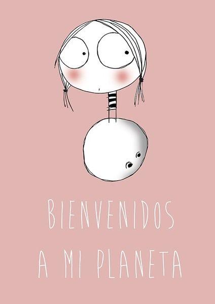 welcome+to+my+planet+de+La+Caja+de+Pintura+por+DaWanda.com
